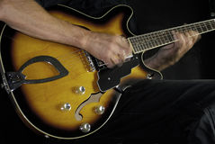 Jogador de guitarra elétrica Imagem de Stock