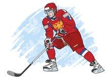 Jogador de hóquei do gelo ilustração royalty free
