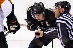 Jogador de hóquei do NHL de Sidney Crosby Foto de Stock Royalty Free