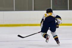 Jogador de hóquei em gelo da mulher durante um jogo fotos de stock royalty free
