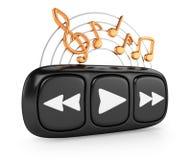 Jogador de música Imagem de Stock Royalty Free
