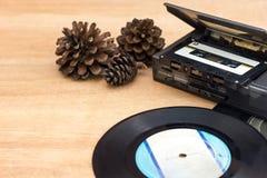 Jogador de música do vintage fotografia de stock