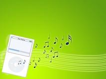Jogador de mp3 da música Fotos de Stock