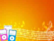 Jogador de mp3 da música Imagens de Stock Royalty Free