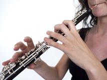 Jogador de Oboe Imagem de Stock