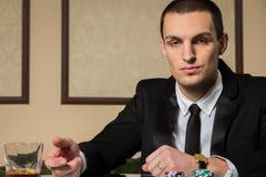 Jogador de pôquer fotos de stock