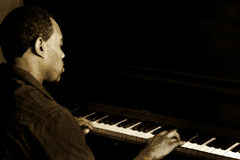 Jogador de piano do jazz Imagem de Stock