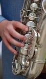 Jogador de saxofone Imagem de Stock