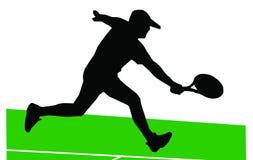 Jogador de ténis ilustração stock