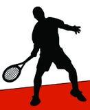 Jogador de ténis ilustração royalty free