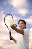 Jogador de ténis asiático fotos de stock royalty free