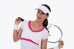 Jogador de ténis da senhora Imagem de Stock Royalty Free