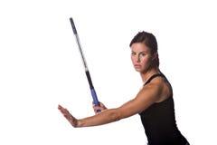 Jogador de ténis fêmea imagem de stock
