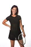 Jogador de ténis fêmea bonito imagem de stock royalty free