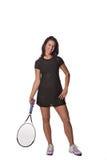 Jogador de ténis fêmea bonito fotografia de stock royalty free