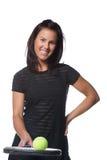Jogador de ténis fêmea bonito fotos de stock