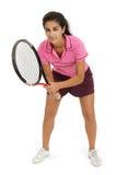 Jogador de ténis fêmea novo Imagens de Stock