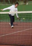 Jogador de ténis na ação Imagens de Stock