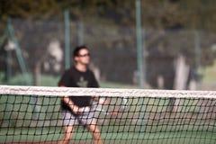 Jogador de ténis na ação Imagem de Stock