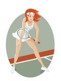 Jogador de ténis novo Imagens de Stock Royalty Free