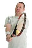 Jogador de ténis novo Fotografia de Stock