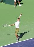 Jogador de ténis profissional. Fotografia de Stock