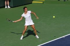 Jogador de ténis profissional. Imagem de Stock