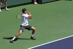 Jogador de ténis profissional. Fotos de Stock Royalty Free