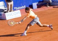 Jogador de ténis profissional Fotografia de Stock