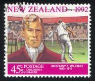 Jogador de tênis Anthony Wilding Foto de Stock Royalty Free