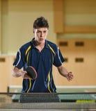 Jogador de tênis de mesa do homem Fotografia de Stock Royalty Free
