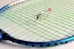 Jogador de tênis diminuto Fotografia de Stock