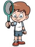 Jogador de tênis dos desenhos animados Fotos de Stock
