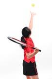 Jogador de tênis isolado Foto de Stock Royalty Free