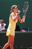 Jogador de tênis profissional Julia Goerges de Alemanha durante seu fósforo em Roland Garros 2015 Imagens de Stock Royalty Free