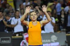 Jogador de tênis Simona Halep da mulher Imagens de Stock