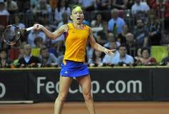 Jogador de tênis Simona Halep da mulher durante um jogo Foto de Stock Royalty Free