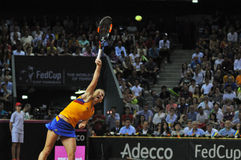 Jogador de tênis Simona Halep da mulher durante um jogo Fotos de Stock