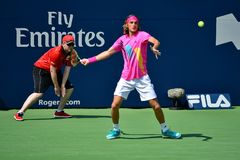 Jogador de tênis Stefanos Tsitsipas de Professinal foto de stock