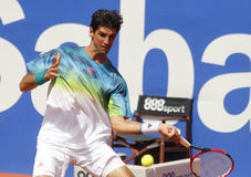Jogador de tênis brasileiro Thomaz Bellucci Fotografia de Stock Royalty Free
