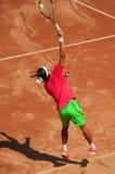 Jogador de ténis na ação Foto de Stock Royalty Free
