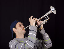 Jogador de trombeta Fotografia de Stock Royalty Free