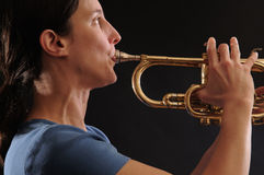 Jogador de trombeta Imagens de Stock Royalty Free