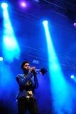 Jogador de trombeta dos capitais (faixa), concerto no festival de Dcode Fotos de Stock