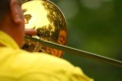 Jogador de Trombone fotografia de stock