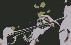 Jogador de trombone no sumário da faixa ilustração royalty free