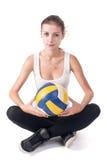 Jogador de voleibol bonito novo Imagens de Stock Royalty Free