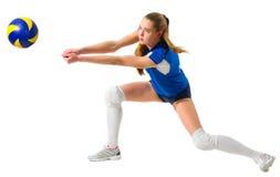 Jogador de voleibol da jovem mulher Imagens de Stock