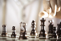 Jogador de xadrez Imagens de Stock