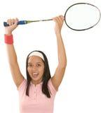 Jogador do badminton Imagens de Stock Royalty Free